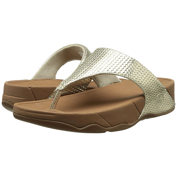 Fitflop Womens Banda Blue Metallic Thong Sandals Shoes 6 Medium (B,M) BHFO